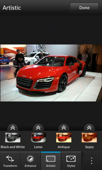 Picture Editor on BlackBerry 10